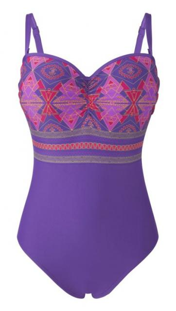 71-CMYK-LR-SW0780_Savannah_padded_bandeau_swimsuit_purple multi print_with straps_front.jpg