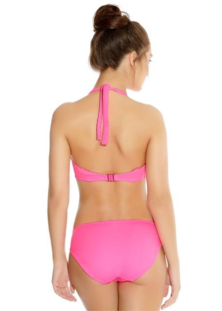 IN-THE-MIX-BRIGHT-PINK-UNDERWIRED-BANDED-HALTER-BIKINI-TOP-3820-HIPSTER-BRIEF-3826-B-2.jpg